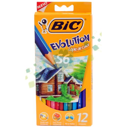 Foto LAPICES DE COLORES EVOLUTION X 12 BIC LARGO EST de