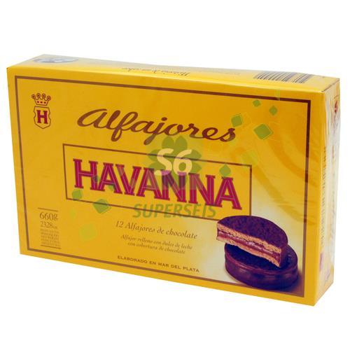 Foto ALFAJOR HAVANNA CHOCOLATE 12 UNIDADES de