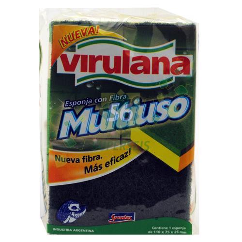 Foto ESPONJA VIRULANA MULTIUSO CON FIBRA de