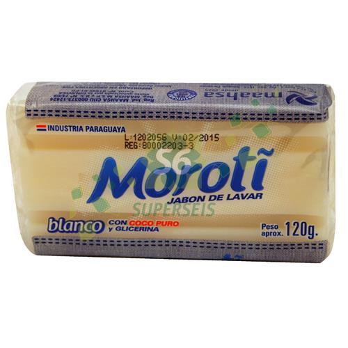 Foto JABON EN PAN MOROTI BLANCO CON FLOW PACK 120 GR de