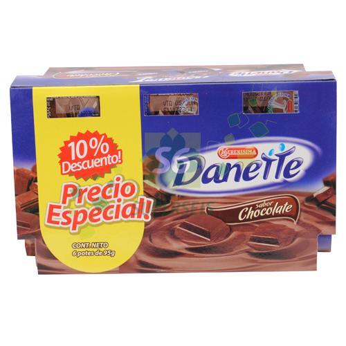 Foto PACK POSTRE DANETTE CHOCOLATE POTE 6 UNIDADES  de
