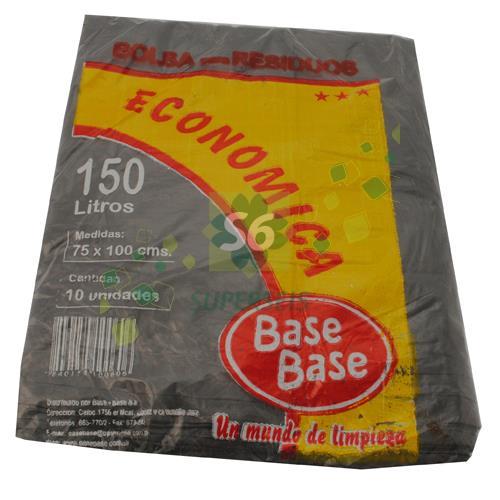 Foto BOLSA PARA RESIDUOS BASE BASE ECONOMICA 150 LITROS 10 UNIDADES de