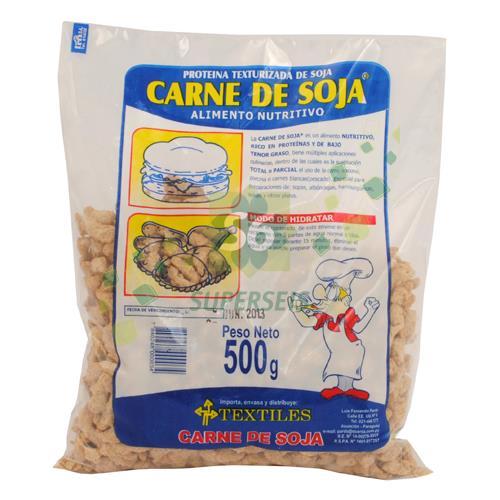 Foto TLES CARNE DE SOJA PAQUETE 500 GR de