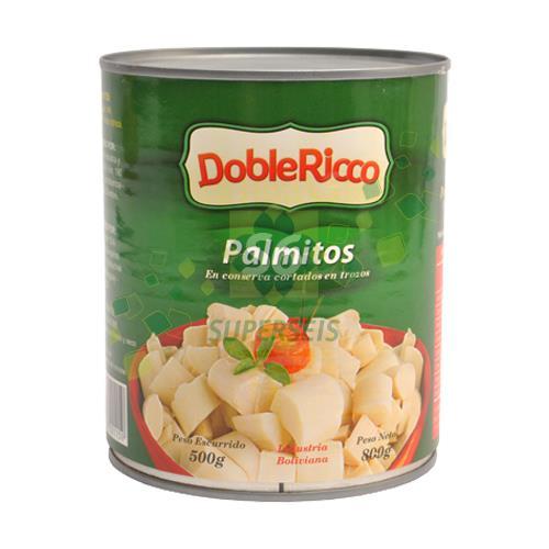 Foto PALMITOS EN TROZOS 800GR DOBLE RICCO LAT de