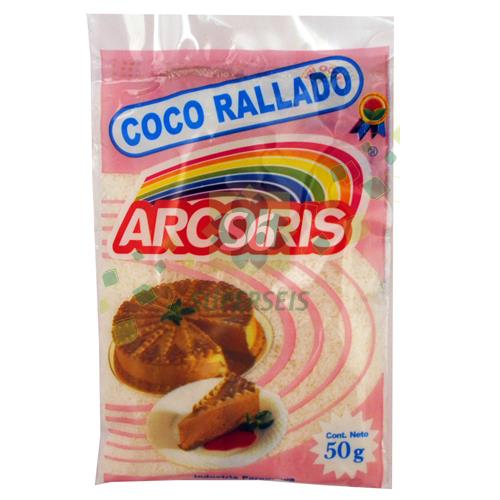 Foto COCO RALLADO ARCO IRIS PAQUETE 50 GR de