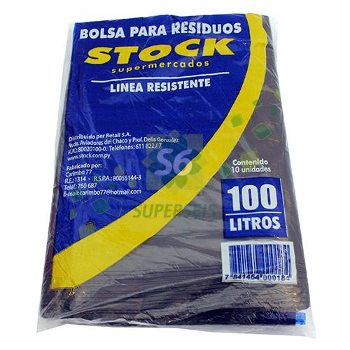 Foto BOLSA PARA RESIDUOS STOCK RESISTENTE 100 LITROS 10 UNIDADES de