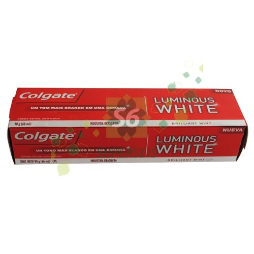 Foto CREMA DENTAL LUMINOUS WHITE 90 GR COLGATE CAJA de