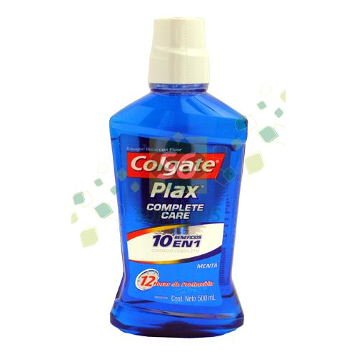 Foto ENJUAGUE BUCAL COLGATE PLAX COMPLETE CARE MENTA 500ML de
