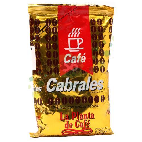 Foto CAFE TORRADO CON AZUCAR MOLIDO 125 GR CABRALES PAQUETE de