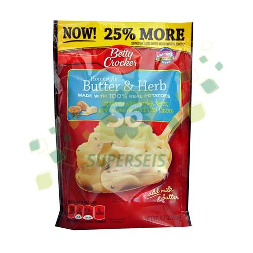 Foto PURE DE PAPA MASHED POT HOMESTYLE BUTTER HERB 133 GR BETTY CROCKER PLAS de