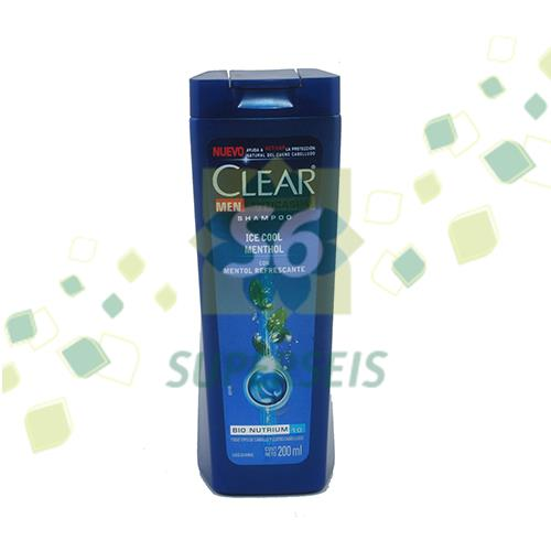 Foto SHAMPOO MEN ICE COOL MENTHOL 200ML CLEAR FRA de