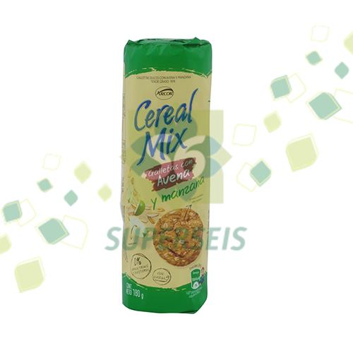 Foto GALLETITIA ARCOR CEREAL MIX AVENA/MANZA 180 GR de