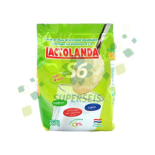 Foto LECHE EN POLVO DESCREMADA LACTOLANDA 400GR BSA de