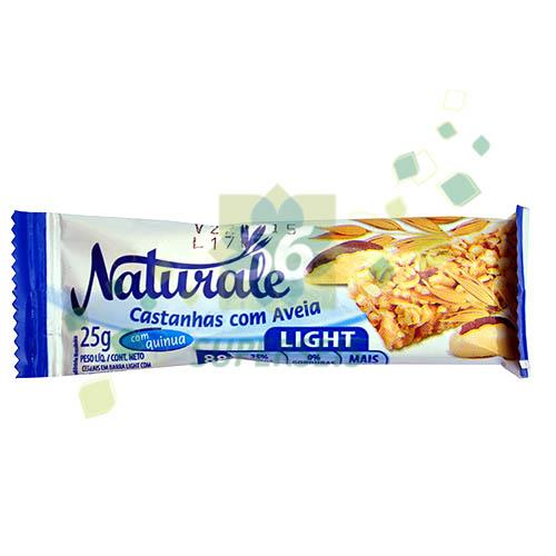 Foto BARRA CEREAL LIGHT CASTAÑAS/AVENA 25 GR. NATURALE DISPLAY de
