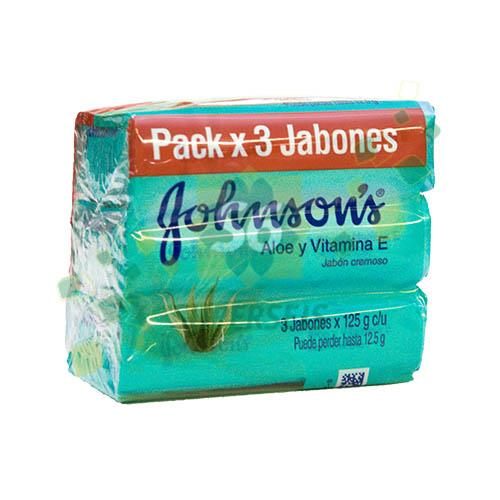 Foto JABON DE TOCADOR ALOE3X125GR JOHNSONS PACK de