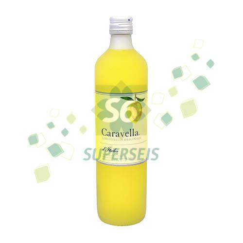 Foto LICOR DE LIMON LEMONCELLO 750 ML CARAVELLA BOTELLA  de