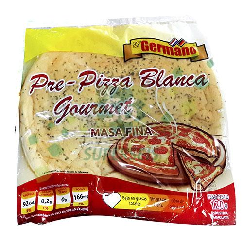 PRE PIZZA BLANCA GOURMET MASA FINA EL GERMANO 120GR BSA