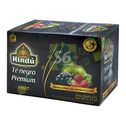 Foto TE NEGRO PREMIUN FRUITS 32GR HINDU CAJA  de