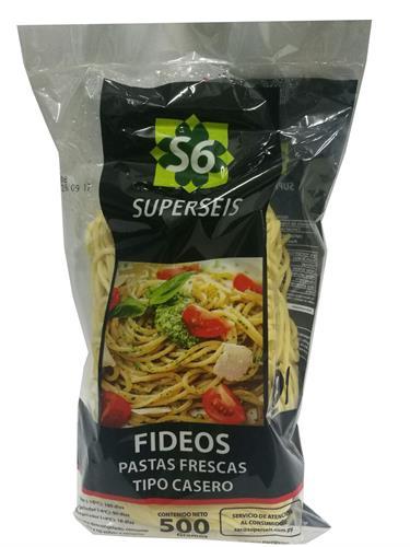 Foto FIDEOS FRESCOS 500 GR SUPERSEIS PAQUETE  de