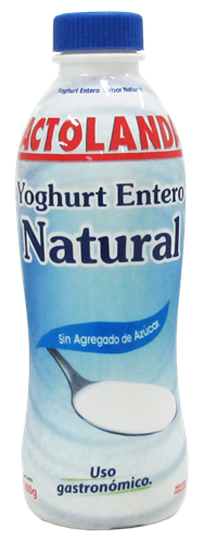 Foto YOGURT ENTERO NATURAL 900 GR LACTOLANDA POTE de