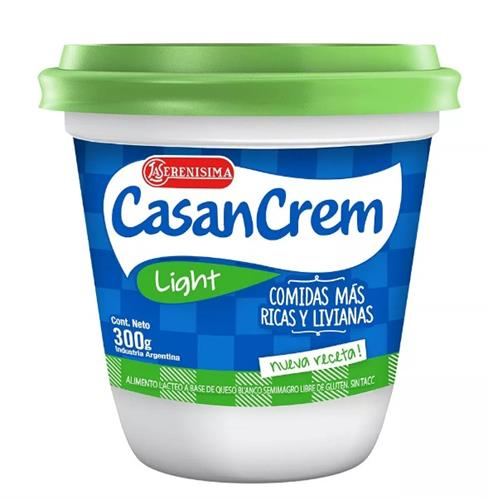Foto QUESO CREMOSO LIGHT 300GR CASANCREM POT de