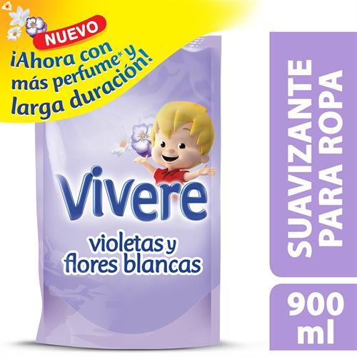 Foto SUAVIZANTE PARA ROPA VIOLETA Y FLORES BLANCAS 900ML VIVERE DOYPACK  de