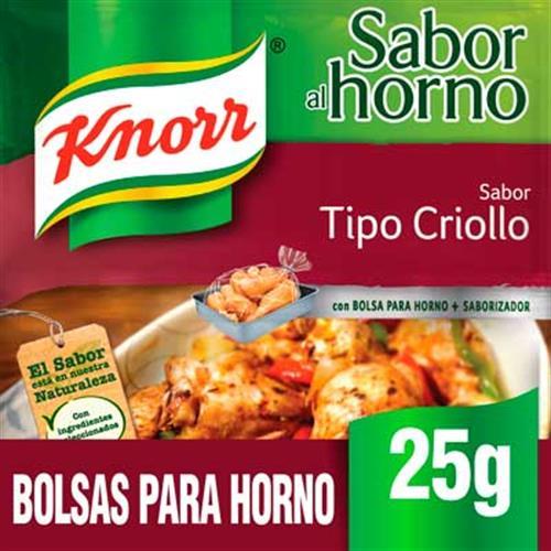 Foto SAZON POLLO TIPO CRIOLLO 25 GR KNORR PAQUETE  de