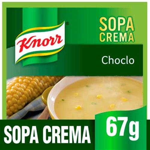 Foto SOPA CREMA CHOCLO 10X67GR KNORR PLA de