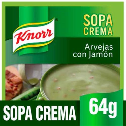 Foto SOPA CREMA CON ARVEJAS CON JAMON 64GR KNORR PLA de