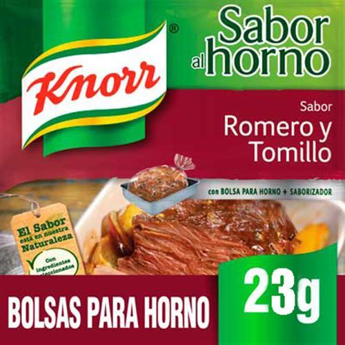 Foto SAZON CARNE CON ROMERO Y TOMILLO 23G KNORR PAQUETE  de