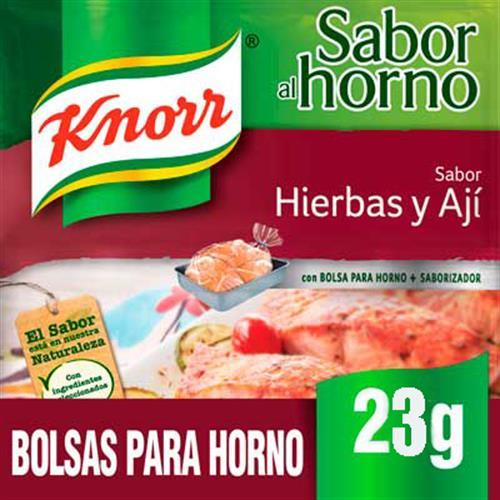 Foto SAZON DE POLLO A/HORNO HIERBAS Y AJI 23GR KNORR PLA de