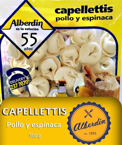Foto CAPELLETTIS DE POLLO Y ESPINACA 500GR ALBERDIN PAQUETE  de