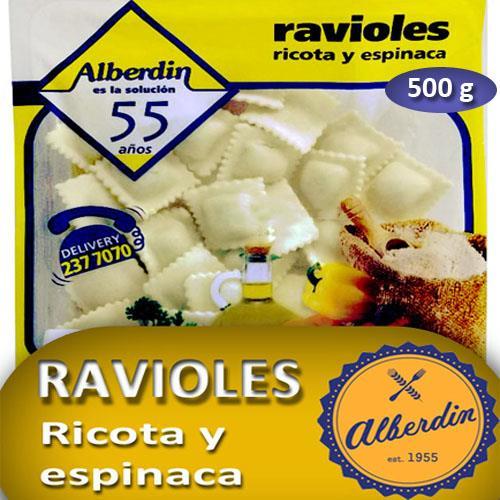 Foto RAVIOLES DE RICOTA Y ESPINACA 500 GR ALBERDIN PAQUETE  de