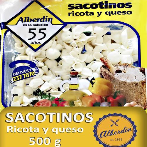 Foto SACOTINOS DE RICOTA Y QUESO 500GR ALBERDIN PAQUETE  de