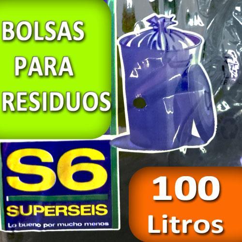 Foto BOLSA SUPERSEIS PARA RESIDUO EXTRA 100 LT de