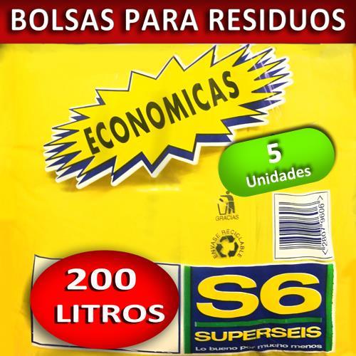 Foto BOLSA SUPERSEIS PARA RESIDUO ECON 200 LT de