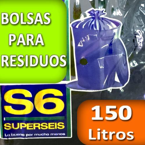 Foto BOLSA SUPERSEIS PARA RESIDUO EXTRA 150 LT de