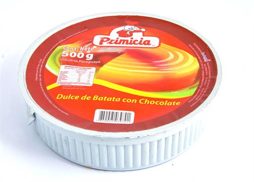 Foto DULCE DE BATATA CON CHOCOLATE 500ML PRIMICIA PLA de