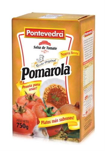 Foto SALSA DE TOMATE POMAROLA 750 GR PONTEVEDRA CAJA de