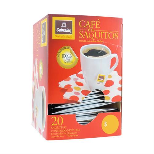 Foto CAFE EN SAQUITOS 20UN CABRALES 100GR CJA de