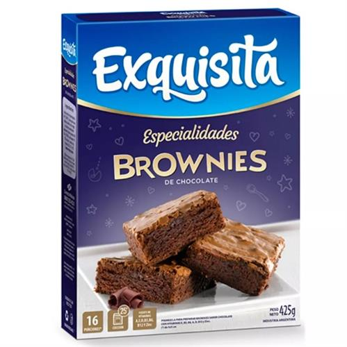 Foto BROWNIES CHOCOLATE 425GR EXQUISITA CAJA  de