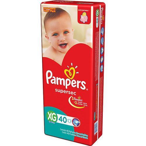 Foto PAÑAL BABYSAN PAMPERS SUPERSEC XG 40 UN   de
