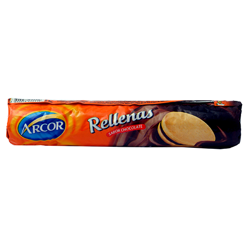 Foto GALLETITA RELLENA CHOCOLATE 120GR ARCOR PAQUETE  de