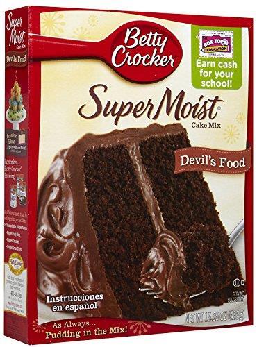 Foto MEZCLA SUPERMOIST CAKE MX CHOCOLATE FUDGE 432 GR BETTY CROCKER CAJA  de