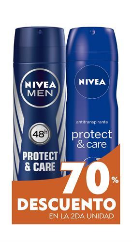 Foto DESODORANTE MEN PROTECT CARE /DEO PROTECT CARE 150ML NIVEA EL 2DO 70PORC DESC.PACK de