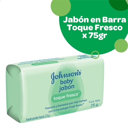 Foto JABON D/TOC TOQUE FRESCO 75GR JOHNSONS BABY PAQ de