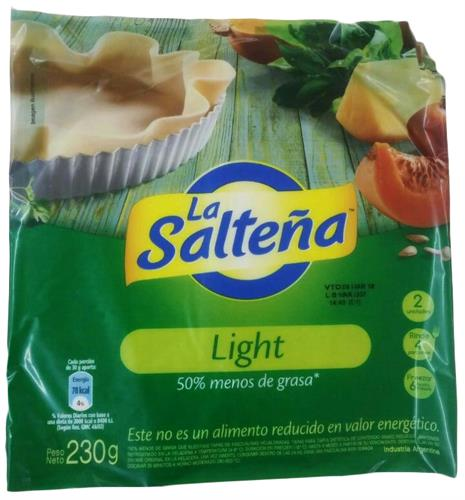 Foto TAPA PARA PASCUALINA LIGHT 230GR LA SALTEÑA PAQUETE  de