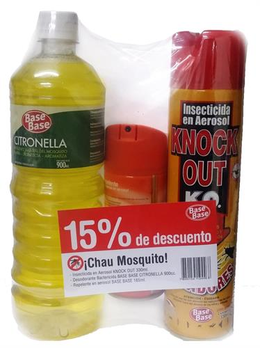 Foto CITRONELLA 900ML/INSECTICIDA AER 330ML/REPELENTE 165ML BASE BASE PACK de