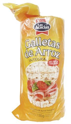 Foto GALLETA DE ARROZ INTEGRAL LAS ACACIAS 130 GR  de