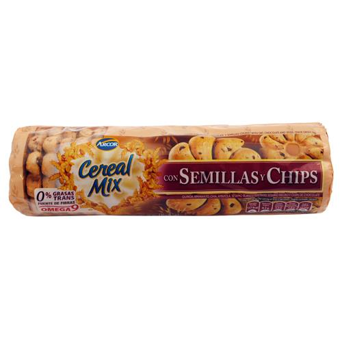 Foto GALLETITAS DULCES SEMILLAS Y CHIPS 230 GR ARCOR CEREAL MIX PAQUETE de